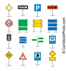 road signs icons