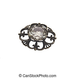 brooch - The photo shows an old silver brooch.