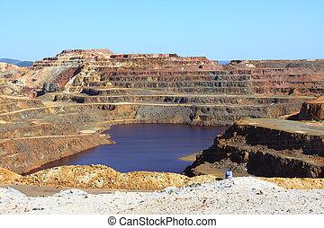Minas de Riotinto Sevilla - Iron pyrite, Corta Atalaya, the...