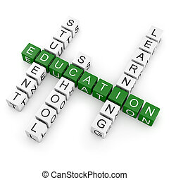 Crossword Education - Crosswords with several education...