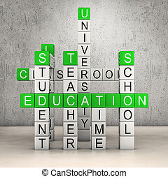 Education crossword room - Crosswords with several education...