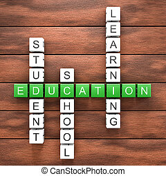 Education crossword table - Crosswords with several...