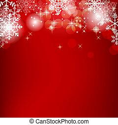 Estratto, bellezza, Natale, nuovo, anno, fondo, vettore,...