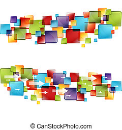 3d Cube Arrows - An image of a 3d transparent cubes with...