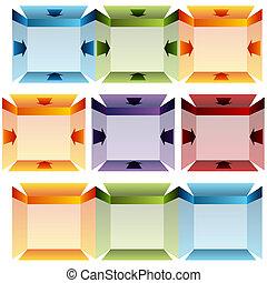 3D Folded Arrow Chart - An image of a 3d folded arrow chart.