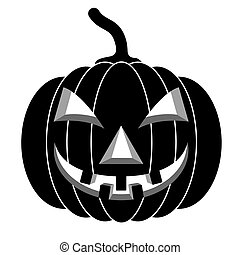 Black pumpkins for Halloween Vector illustration