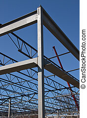 Steel Structure Frame - New building construction steel...