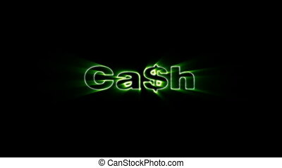 Cash - HD animation with elements explosion
