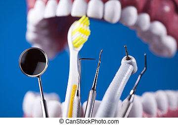 Close-up Dental Instruments