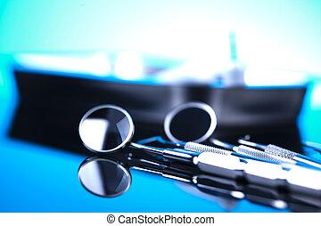 dental, herramientas, equipo