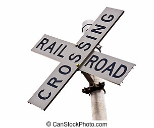 Railroad Crossing Signal - Rail crossing cross for rural...
