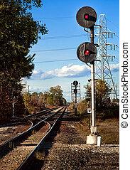 Railroad Yard Signal - Train traffic signal for rail yard...