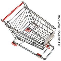 Empty Shopping Trolley Cutout