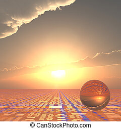 Technical Horizon Forecast - A grid horizon and bright sun...