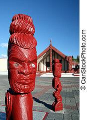 maorí, escultura, -, maorí, cultura, nuevo,...