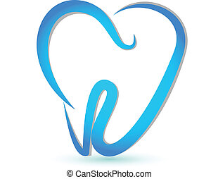 Vector of a stylized tooth logo