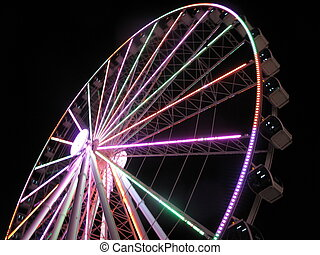 Amusement Park - Ferris Wheel at Night: Entertainment and...