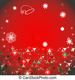 Happy New Year red background with spots