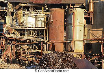domolishing old Babinda Sugar Mill