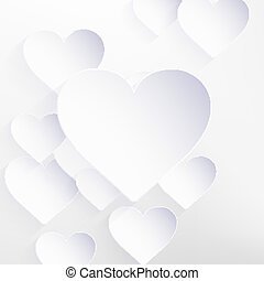 Valentines Day with paper heart shape. EPS 10