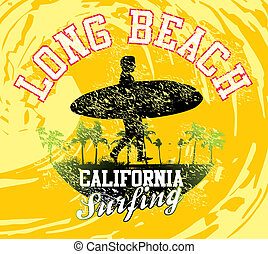 pacific surfer vector graphic design - pacific surfer...