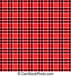 Seamless Red tartan pattern vector - image of Seamless red...