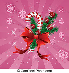 Christmas candy cane pink background - Illustration of pink...