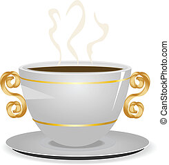 Cup of coffee - Illustration of cup of coffee isolated on...
