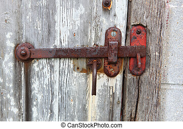 Rusty  Latch - Rusty Latch on a old door