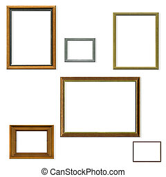 Vintage picture frame selection with clipping paths