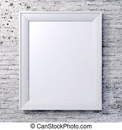 blank frame on vintage wall