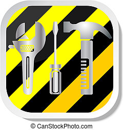 Work tools icon vector illustration eps 10