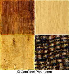 Collection of rough wood textures
