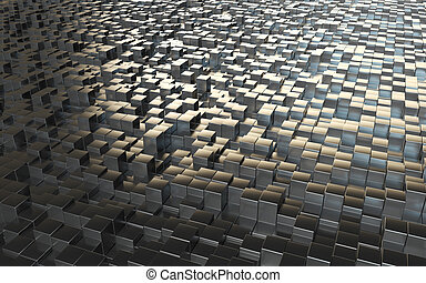 abstract background steel cubes - abstract background with...