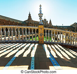 Sevilla - Plaza Espana in Sevilla,Spain