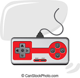 game console - clip art vector illustration