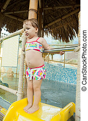 the little girl in aquapark