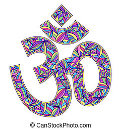 Om symbol - Vector illustration of Om symbol on white...