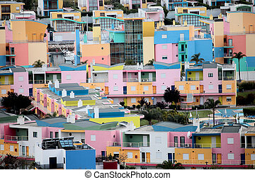 colorful houses - city of a lot of colorful houses