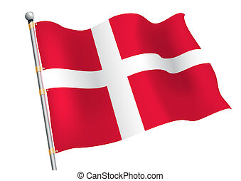 Dannebrog - Denmark civic and state flag