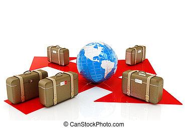 lotnisko, Pojęcie, dystrybucja, bagaż