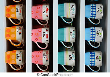 beautiful color of cups - Beautiful color cups separate by...