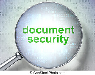Privacy concept: Document Security with optical glass