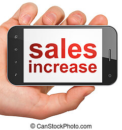 Marketing concept: Sales Increase on smartphone