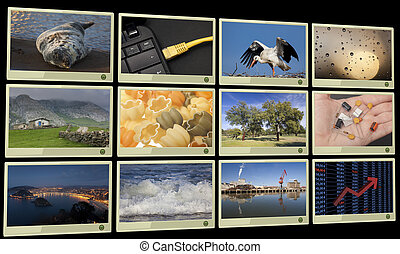 Widescreen HD displays with multiple images
