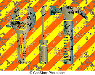 Work tools grunge background vector illustration eps 10
