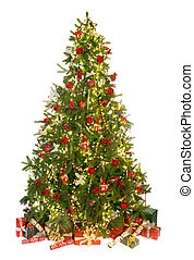Christmas tree on white - Beautiful christmas tree isolated...
