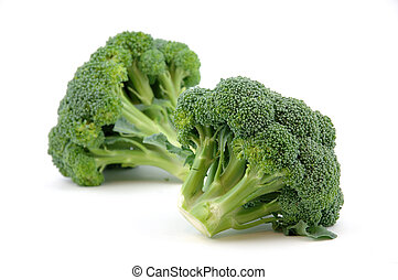 Broccoli in isolated white background