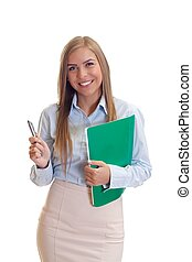 Happy businesswoman - Portrait of a beautiful young business...