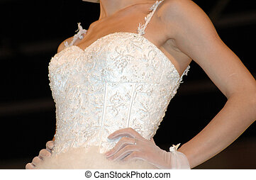 Wedding dress in wedding catwalk show